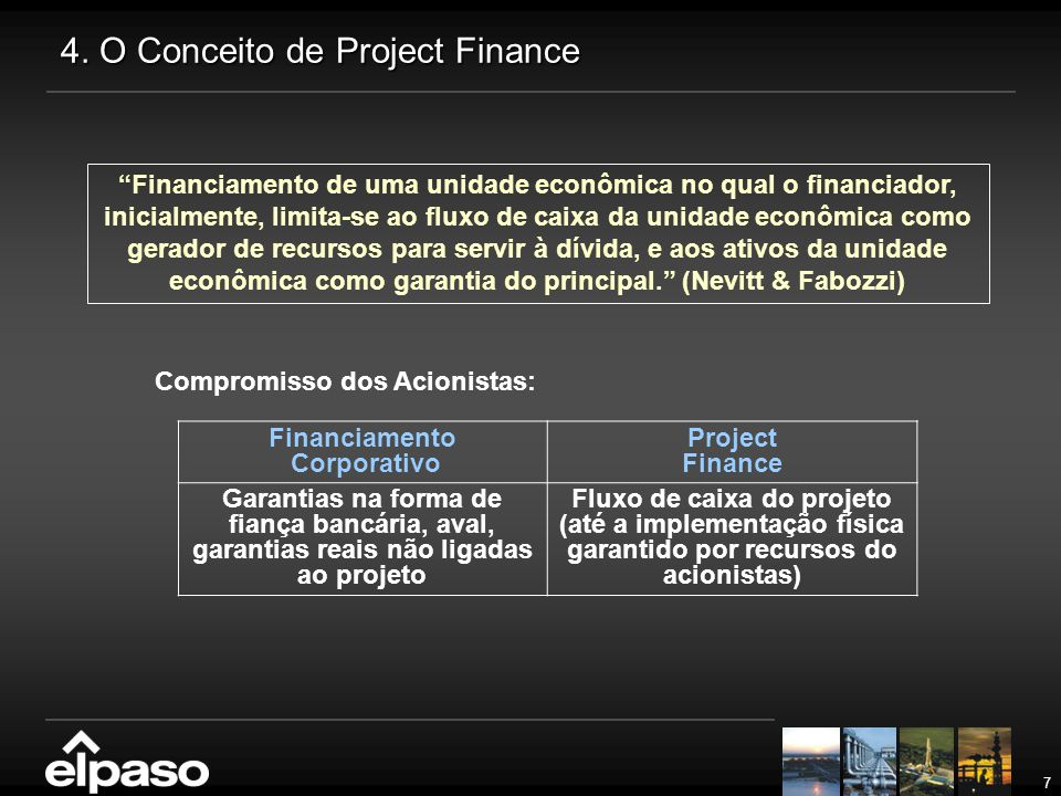 4. O Conceito de Project Finance