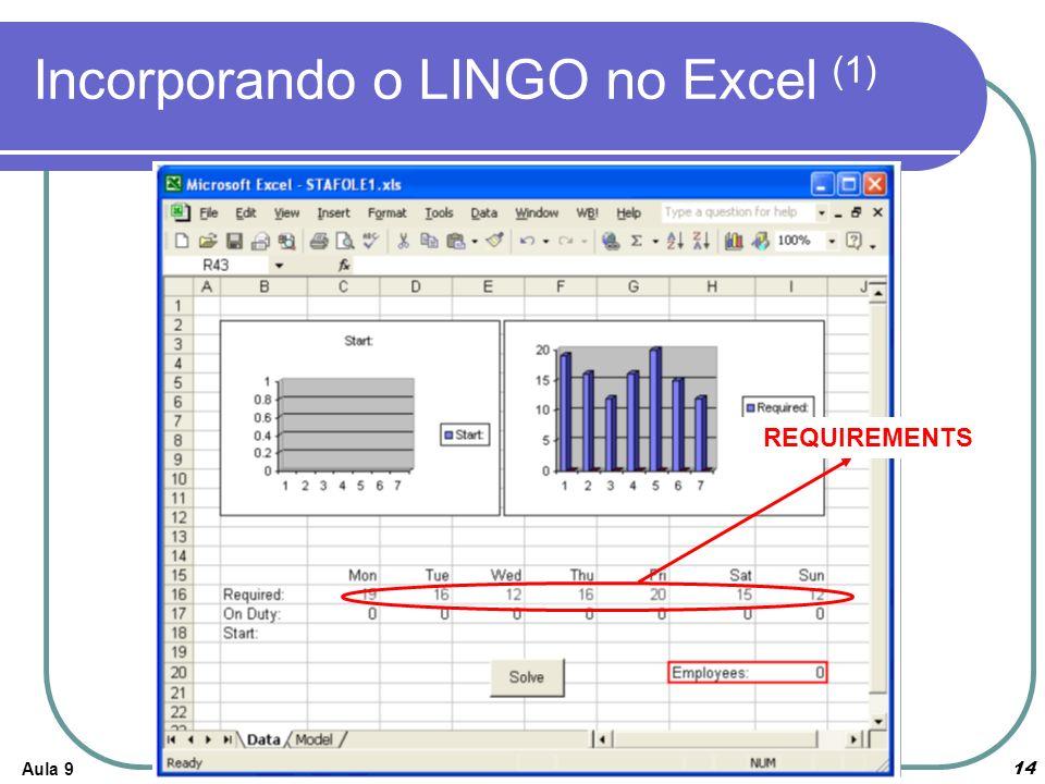 Incorporando o LINGO no Excel (1)