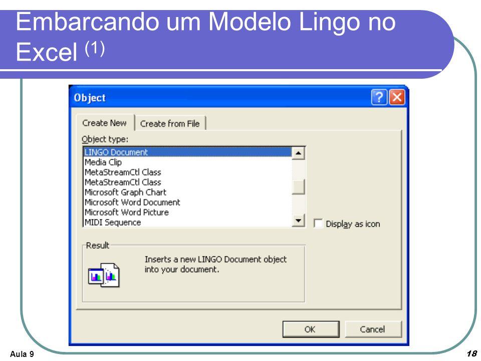 Embarcando um Modelo Lingo no Excel (1)
