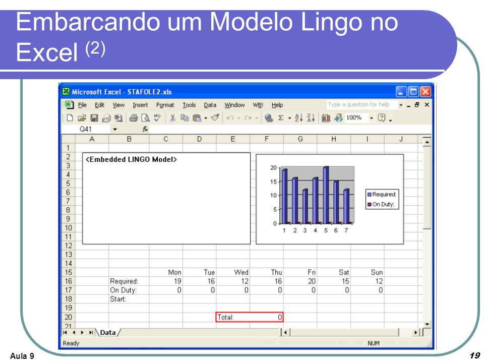 Embarcando um Modelo Lingo no Excel (2)