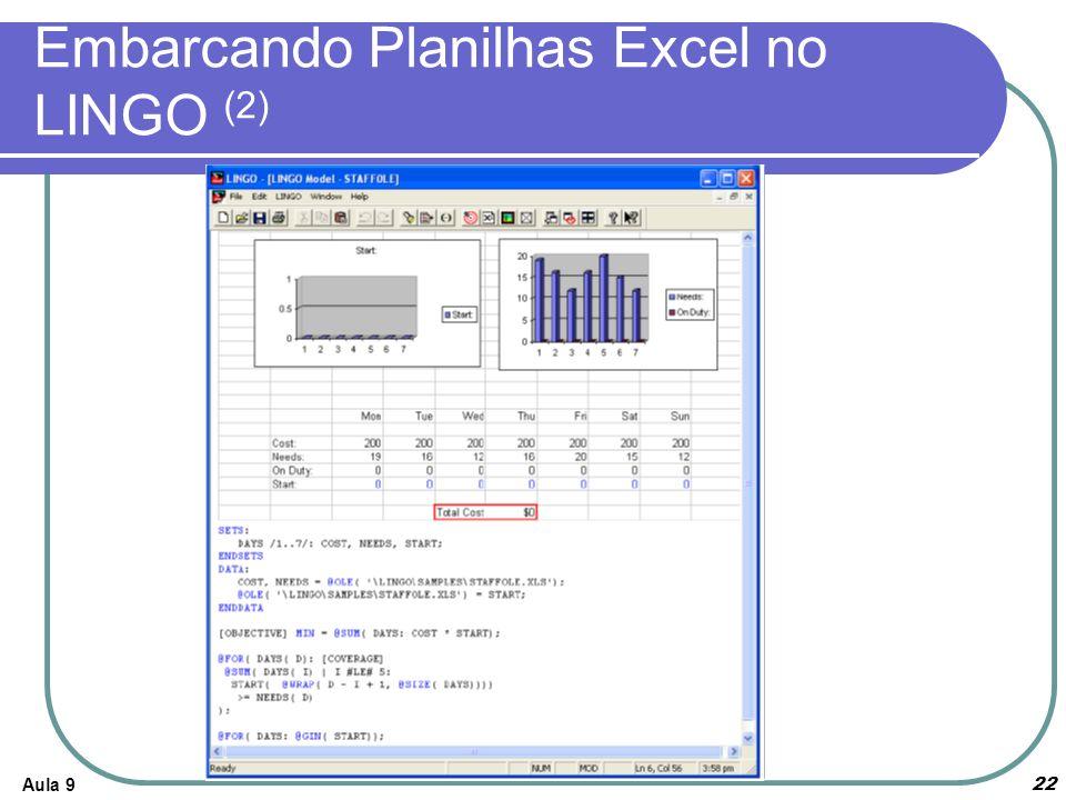 Embarcando Planilhas Excel no LINGO (2)