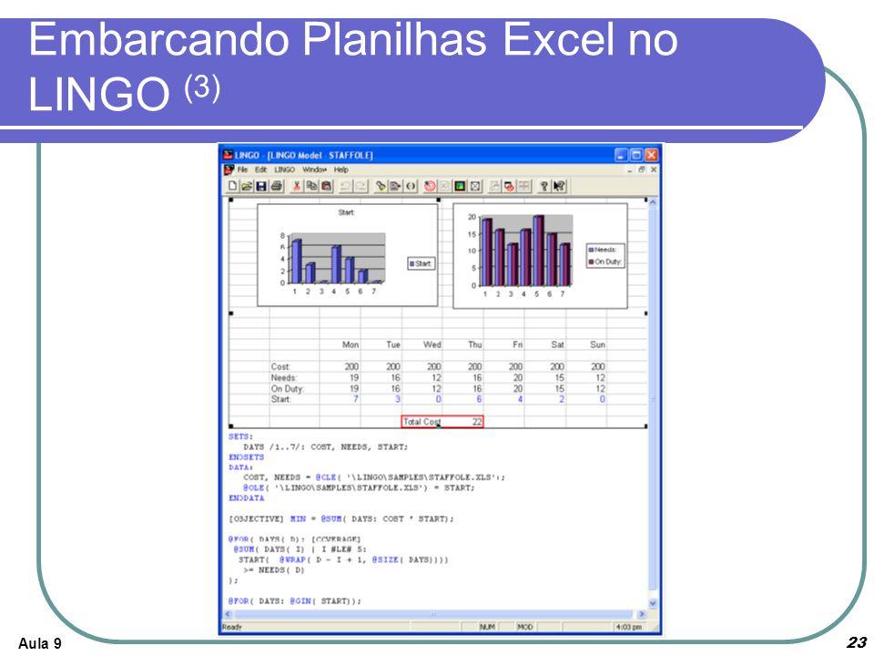 Embarcando Planilhas Excel no LINGO (3)