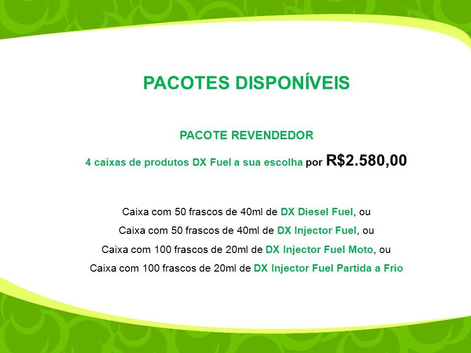 4 caixas de produtos DX Fuel a sua escolha por R$2.580,00