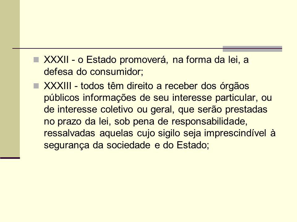 XXXII - o Estado promoverá, na forma da lei, a defesa do consumidor;