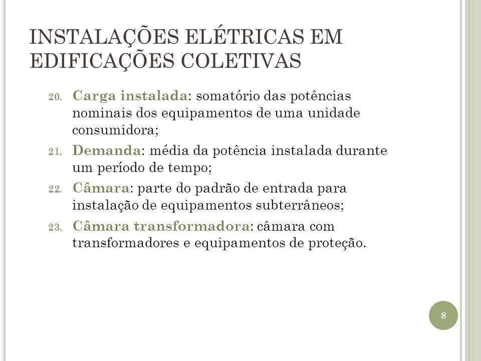 INSTALAÇÕES ELÉTRICAS EM EDIFICAÇÕES COLETIVAS