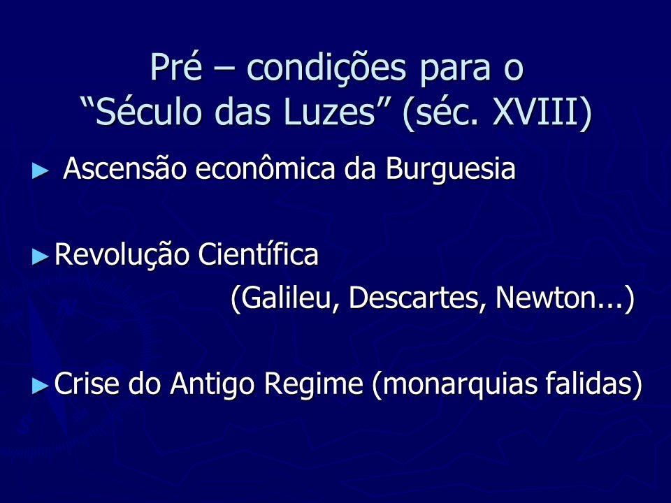 Pré – condições para o Século das Luzes (séc. XVIII)