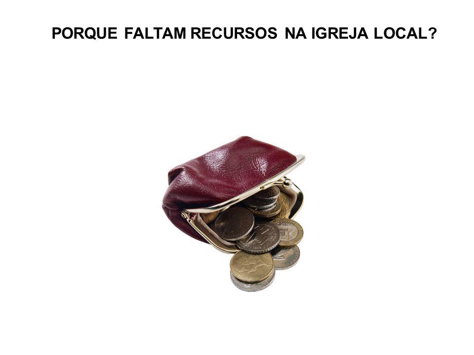 PORQUE FALTAM RECURSOS NA IGREJA LOCAL