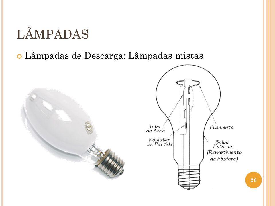 LÂMPADAS Lâmpadas de Descarga: Lâmpadas mistas