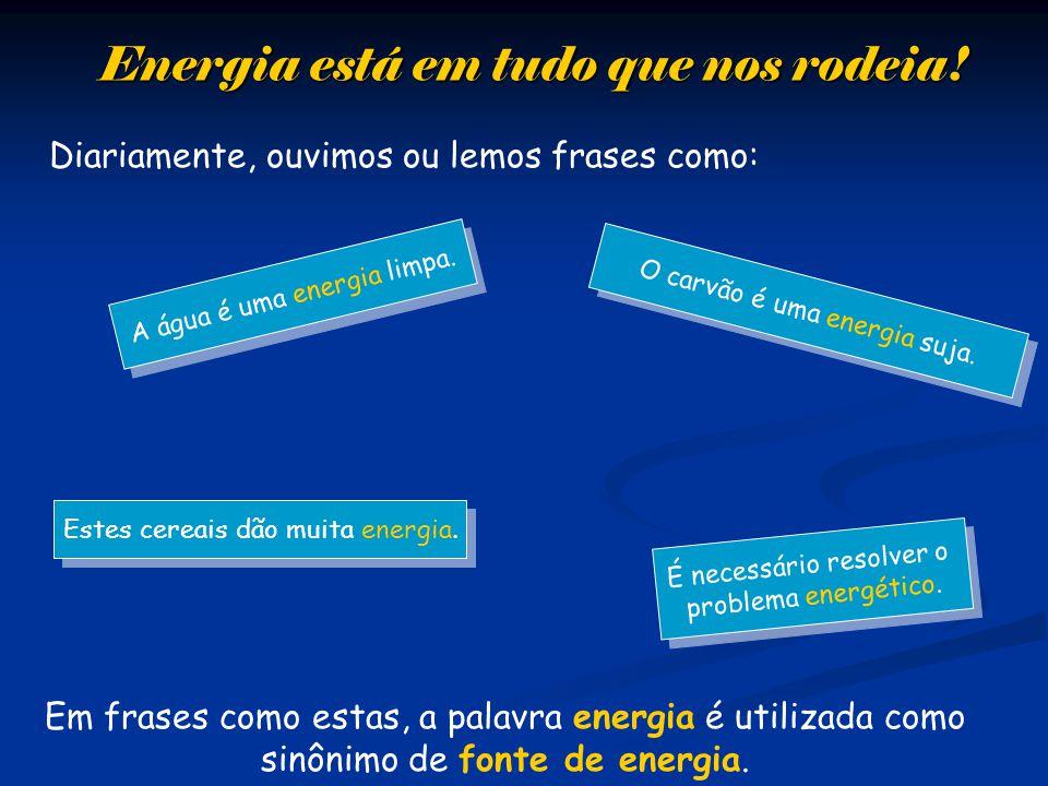 Energia está em tudo que nos rodeia!
