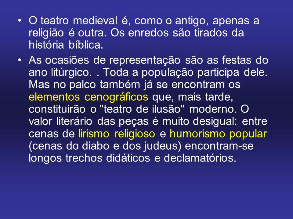 O teatro medieval é, como o antigo, apenas a religião é outra