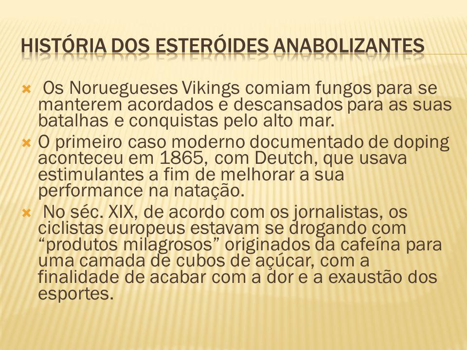 História dos esteróides anabolizantes