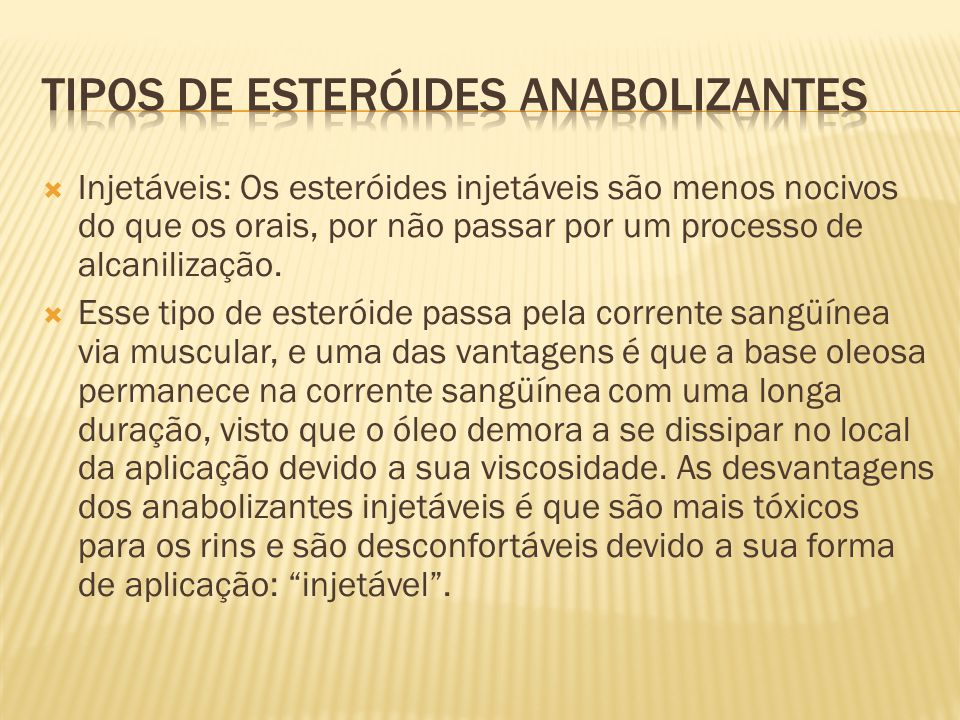 Tipos de esteróides anabolizantes