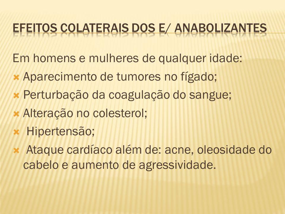 Efeitos colaterais dos e/ anabolizantes