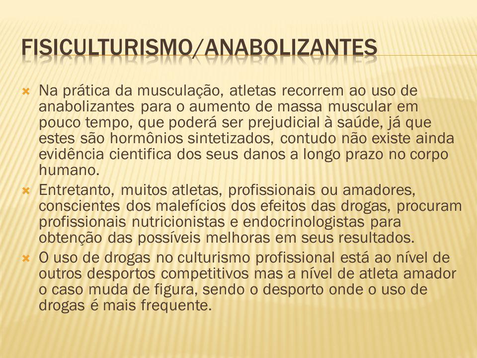 FISICULTURISMO/ANABOLIZANTES