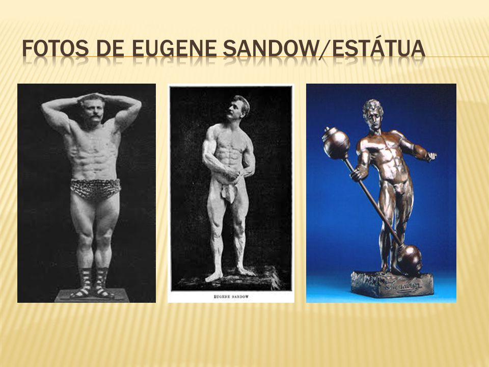 FOTOS DE EUGENE SANDOW/ESTÁTUA