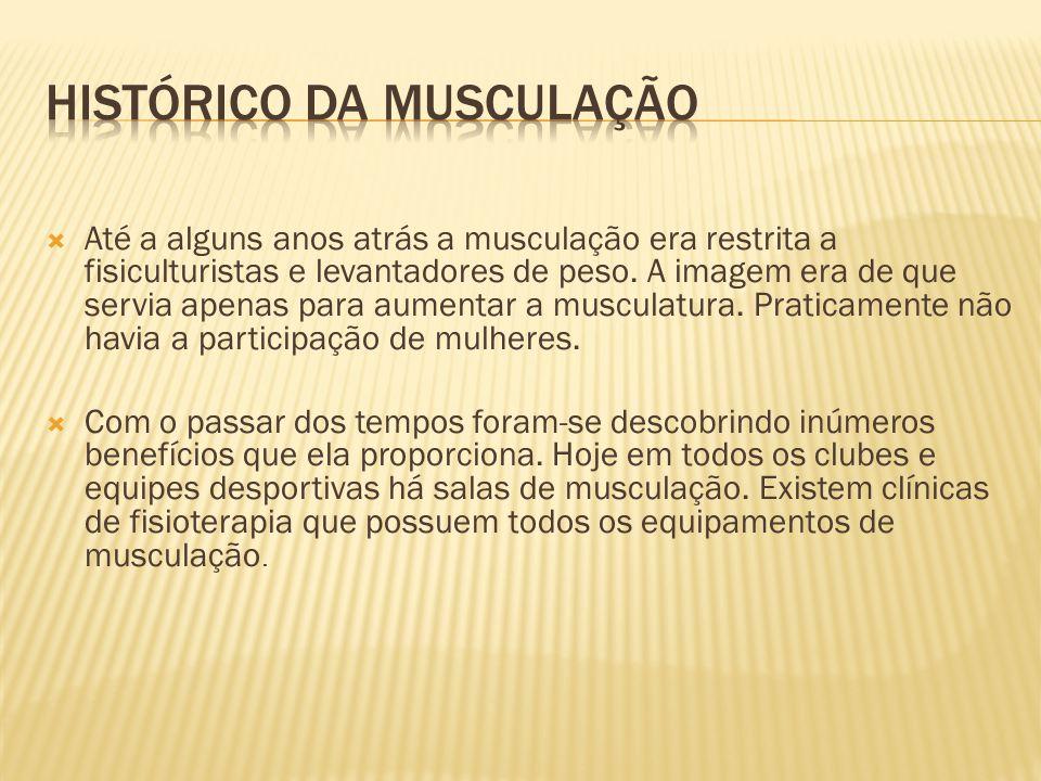 HISTÓRICO DA MUSCULAÇÃO
