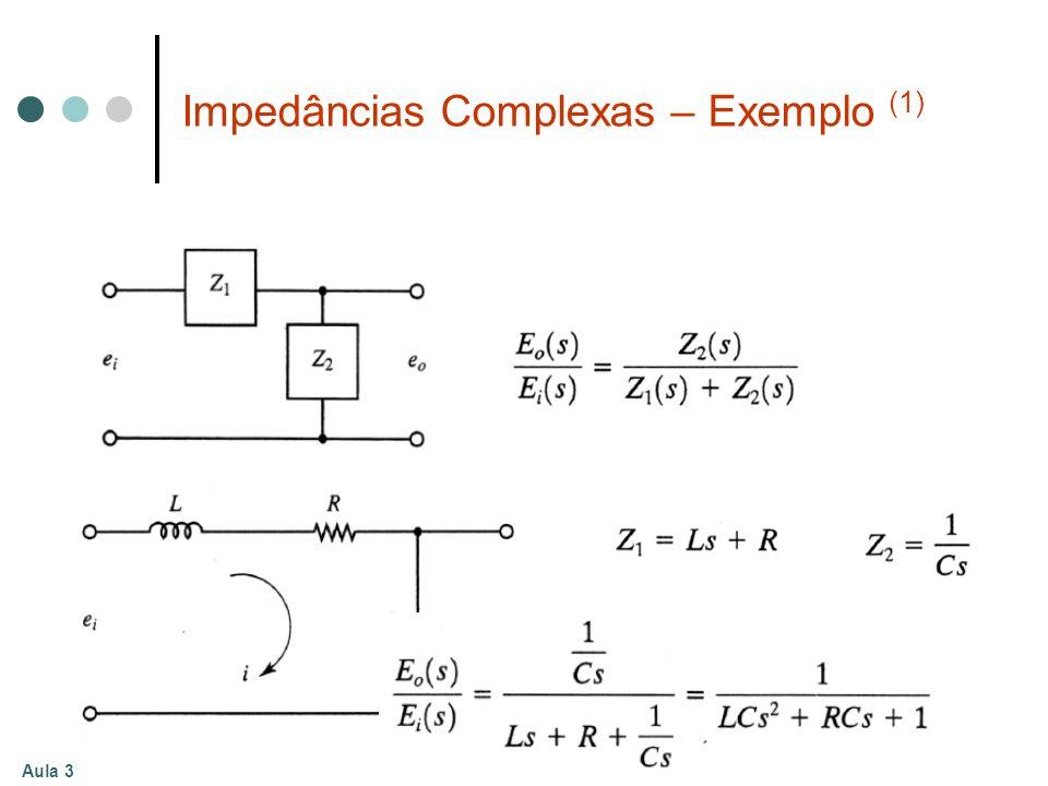 Impedâncias Complexas – Exemplo (1)