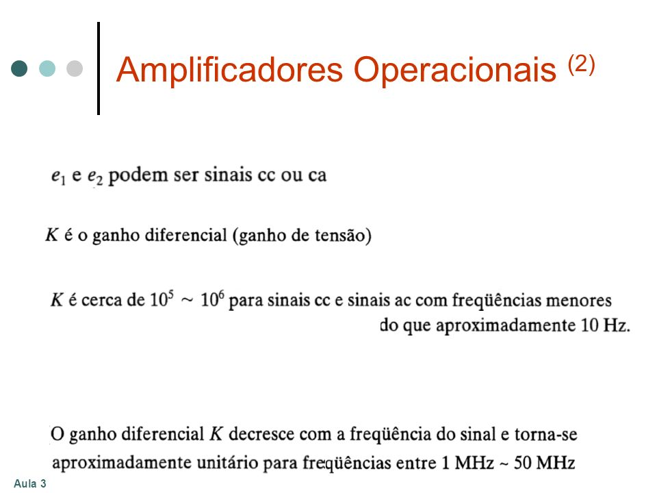 Amplificadores Operacionais (2)