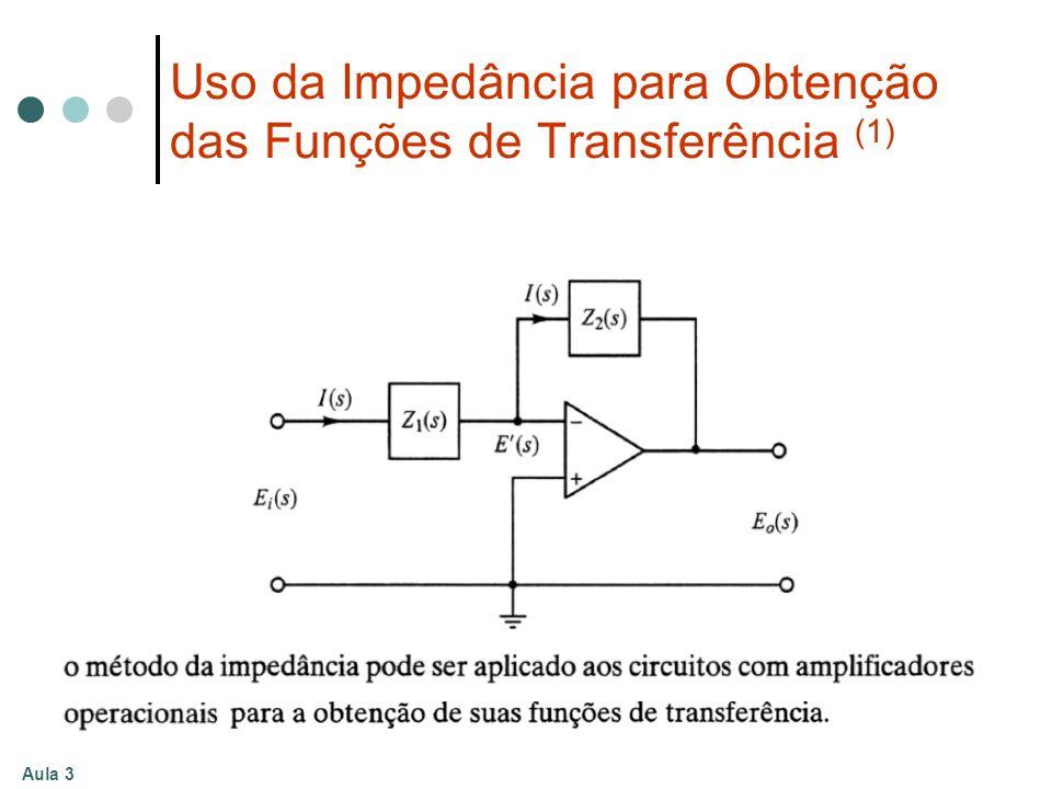 Uso da Impedância para Obtenção das Funções de Transferência (1)