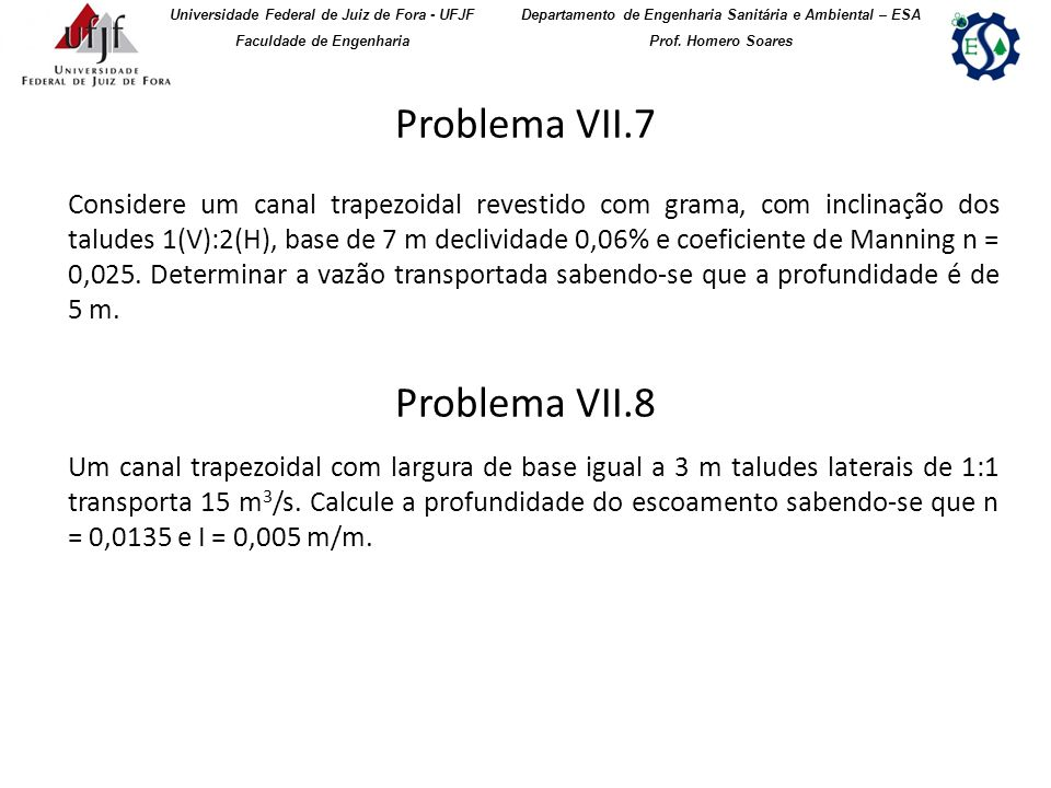 Problema VII.7 Problema VII.8