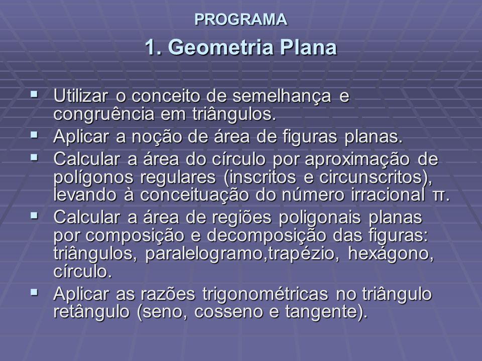 PROGRAMA 1. Geometria Plana