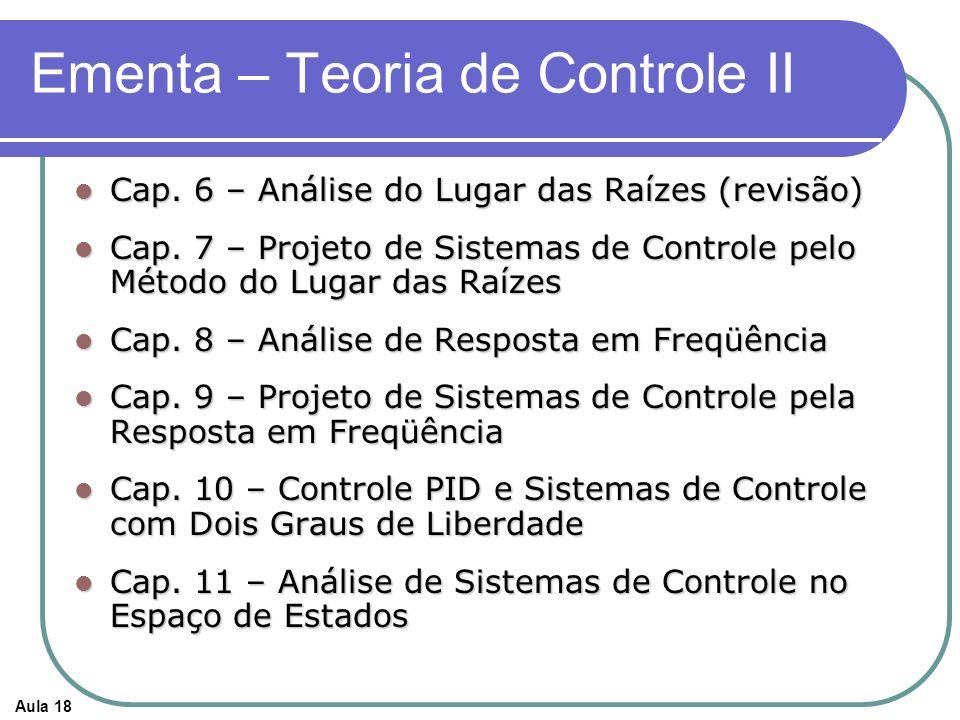 Ementa – Teoria de Controle II