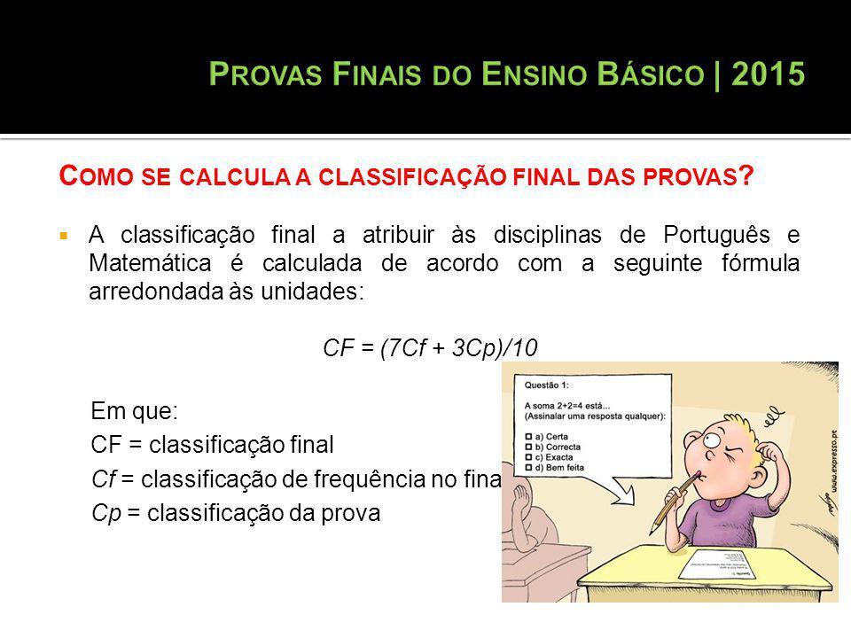 Provas Finais do Ensino Básico | 2015