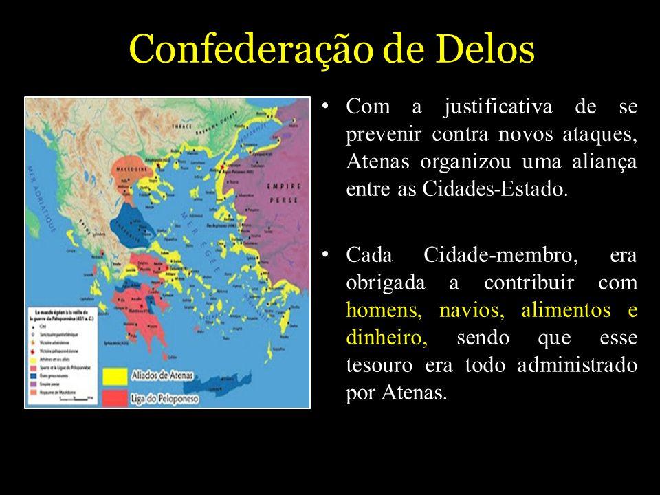 Confederação de Delos Com a justificativa de se prevenir contra novos ataques, Atenas organizou uma aliança entre as Cidades-Estado.