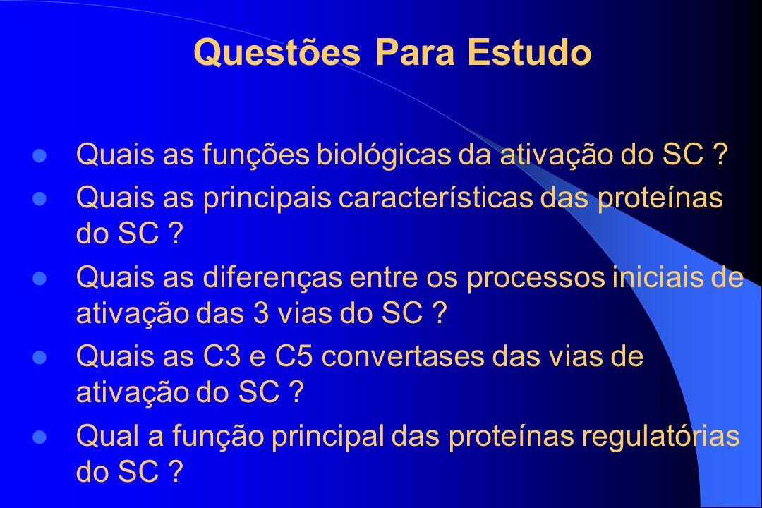 Questões Para Estudo Quais as funções biológicas da ativação do SC