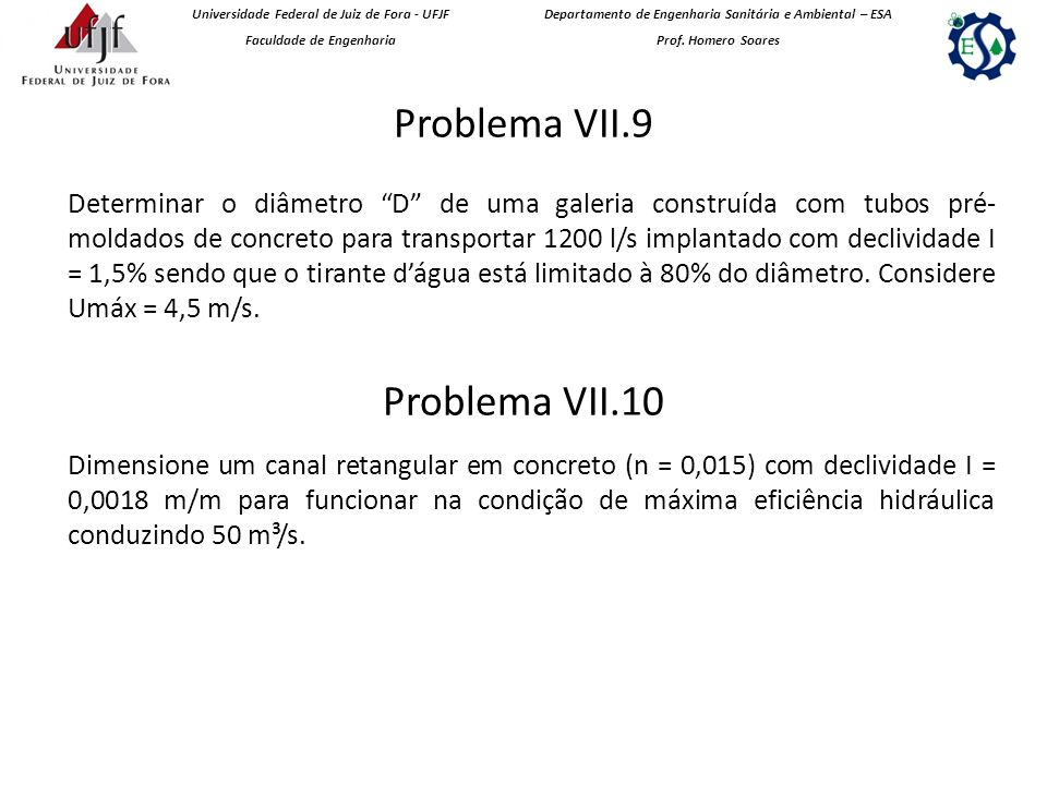 Problema VII.9 Problema VII.10
