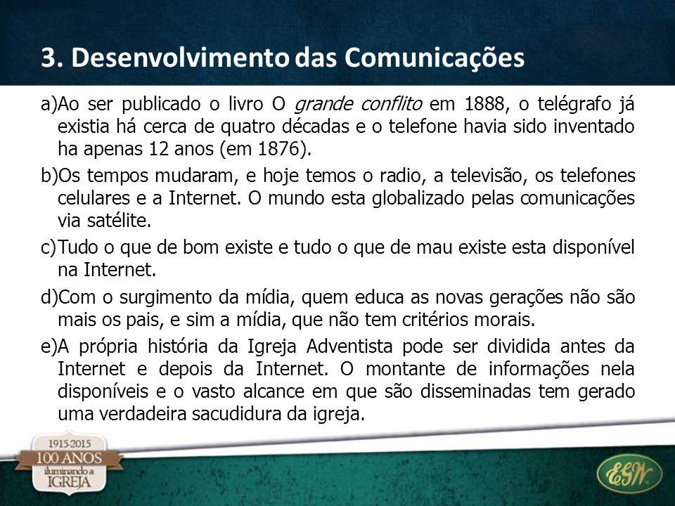 3. Desenvolvimento das Comunicações