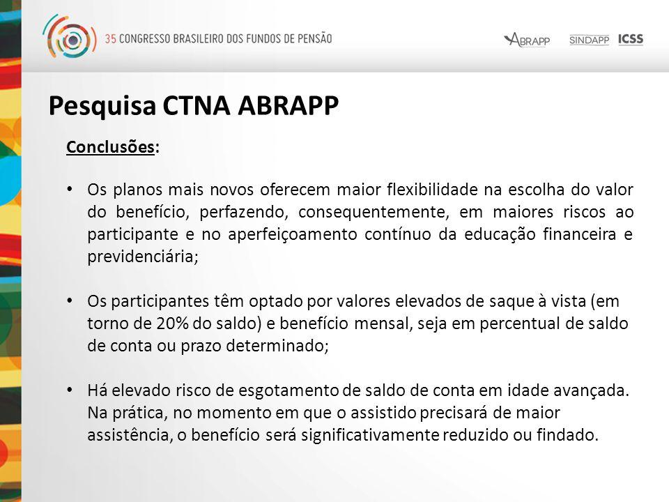 Pesquisa CTNA ABRAPP Conclusões: