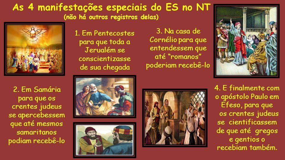 As 4 manifestações especiais do ES no NT
