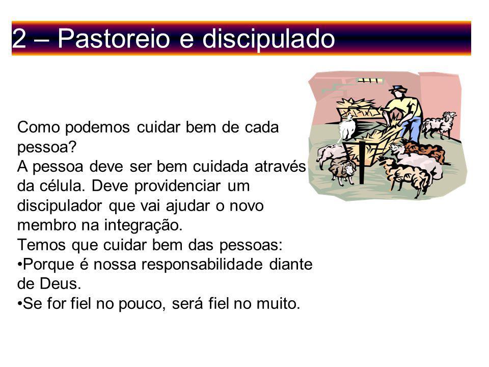 2 – Pastoreio e discipulado