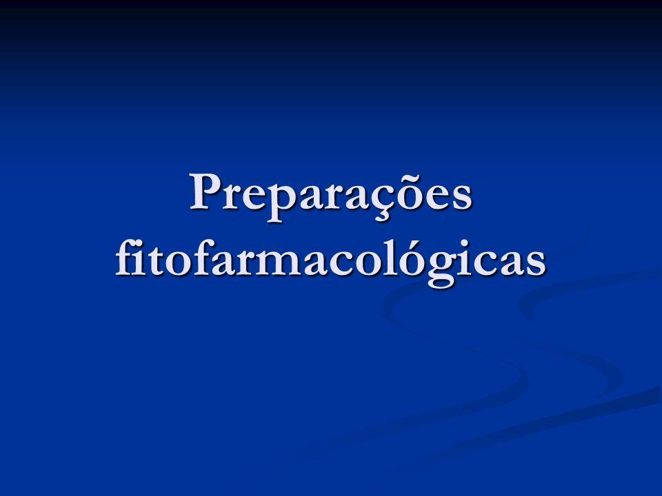 Preparações fitofarmacológicas