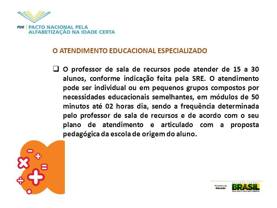 O ATENDIMENTO EDUCACIONAL ESPECIALIZADO