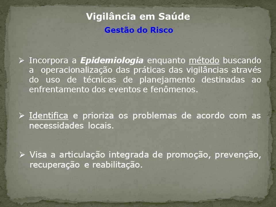 Vigilância em Saúde Gestão do Risco.