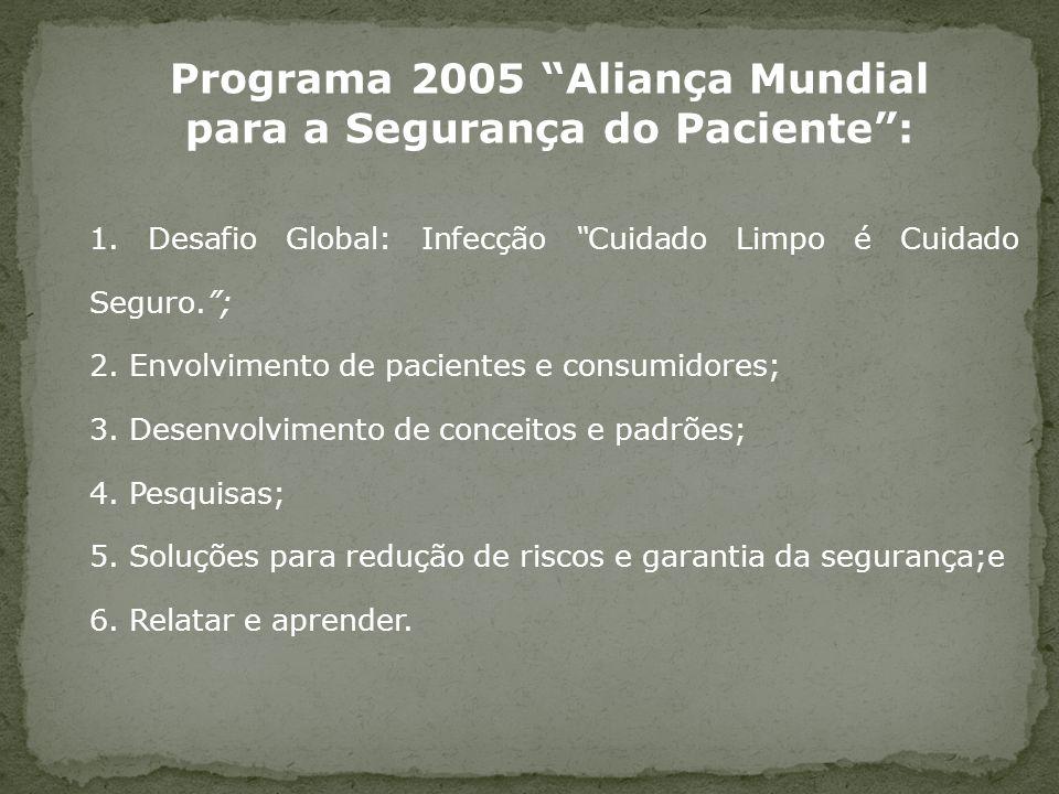 Programa 2005 Aliança Mundial para a Segurança do Paciente :