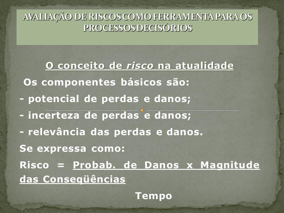 AVALIAÇÃO DE RISCOS COMO FERRAMENTA PARA OS PROCESSOS DECISÓRIOS