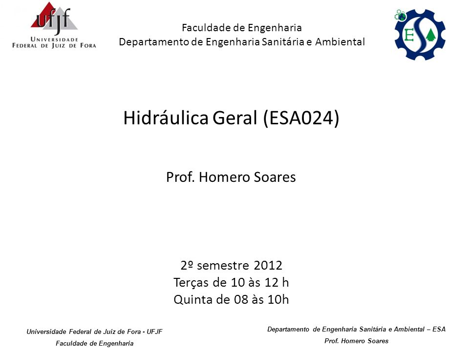 Hidráulica Geral (ESA024)