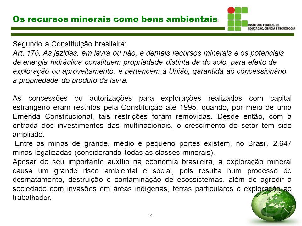 Os recursos minerais como bens ambientais