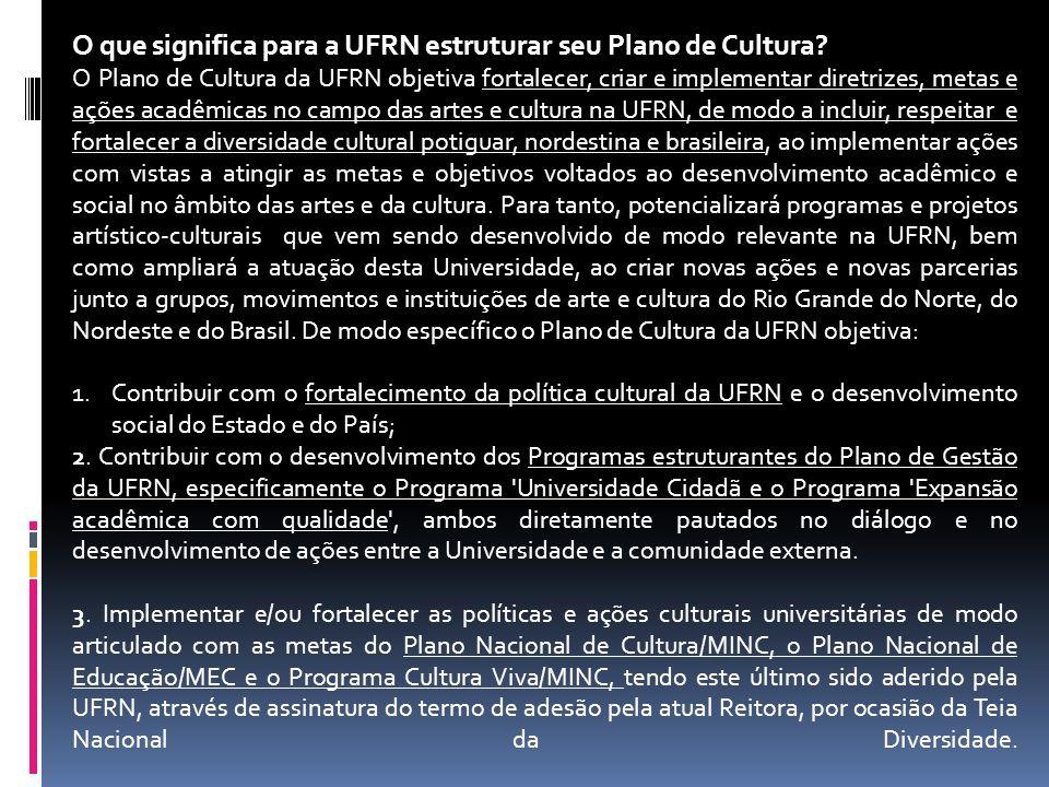 O que significa para a UFRN estruturar seu Plano de Cultura