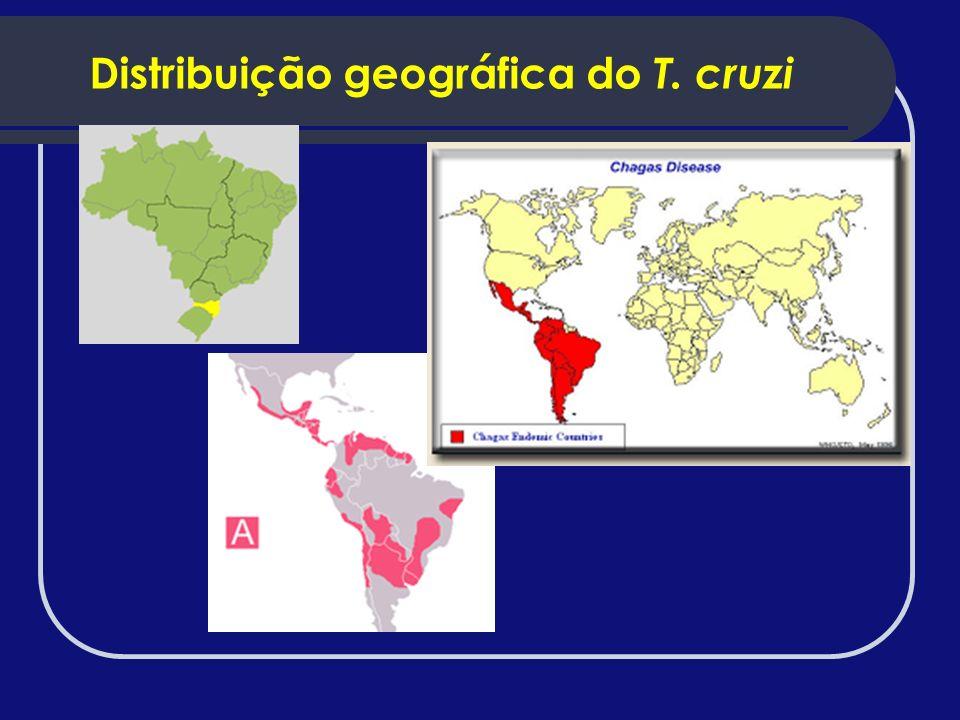 Distribuição geográfica do T. cruzi