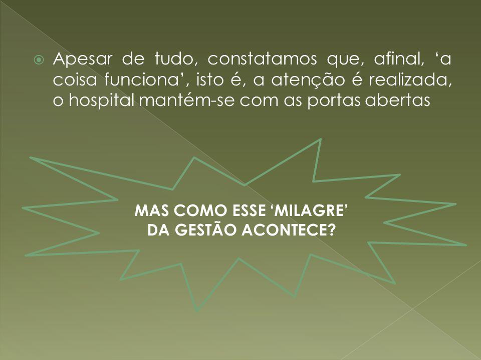 MAS COMO ESSE 'MILAGRE' DA GESTÃO ACONTECE