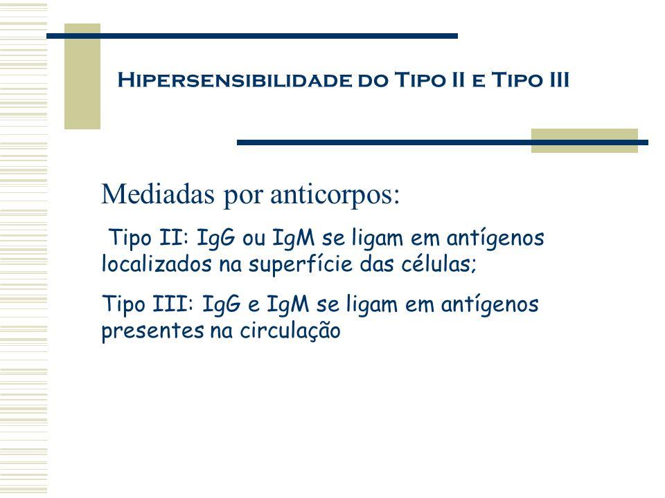 Hipersensibilidade do Tipo II e Tipo III