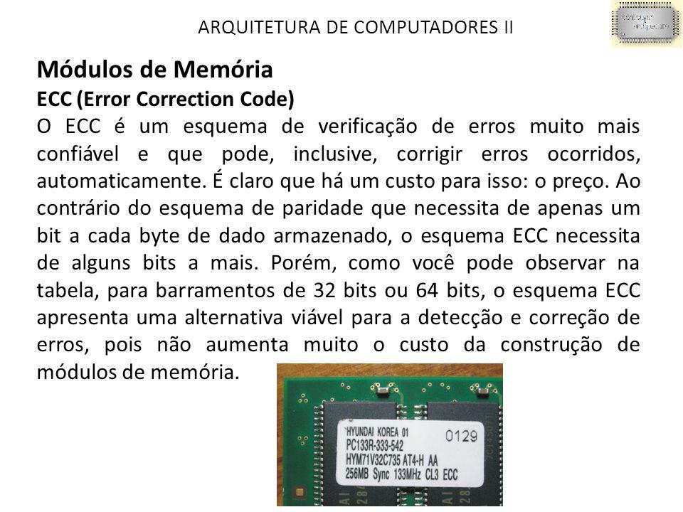 Módulos de Memória ECC (Error Correction Code)