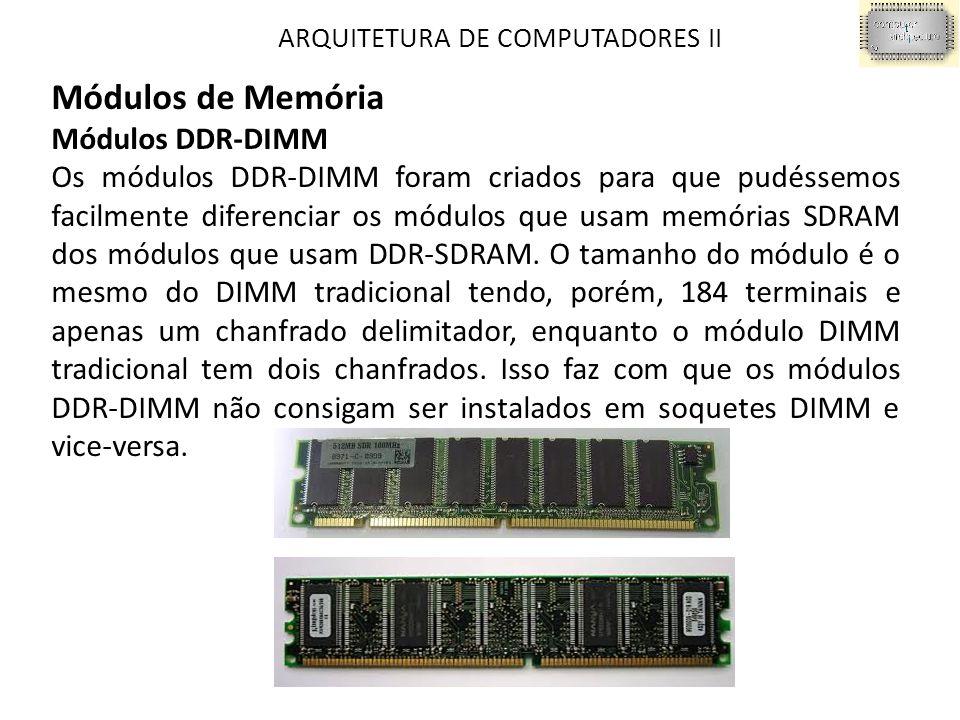 Módulos de Memória Módulos DDR-DIMM
