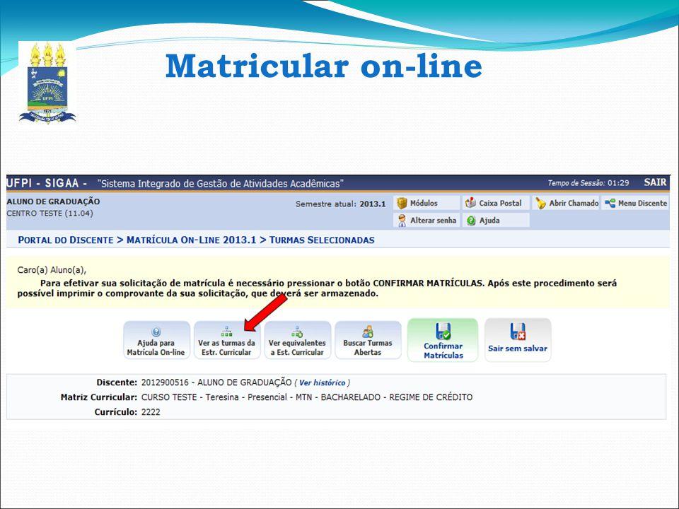 Matricular on-line 11