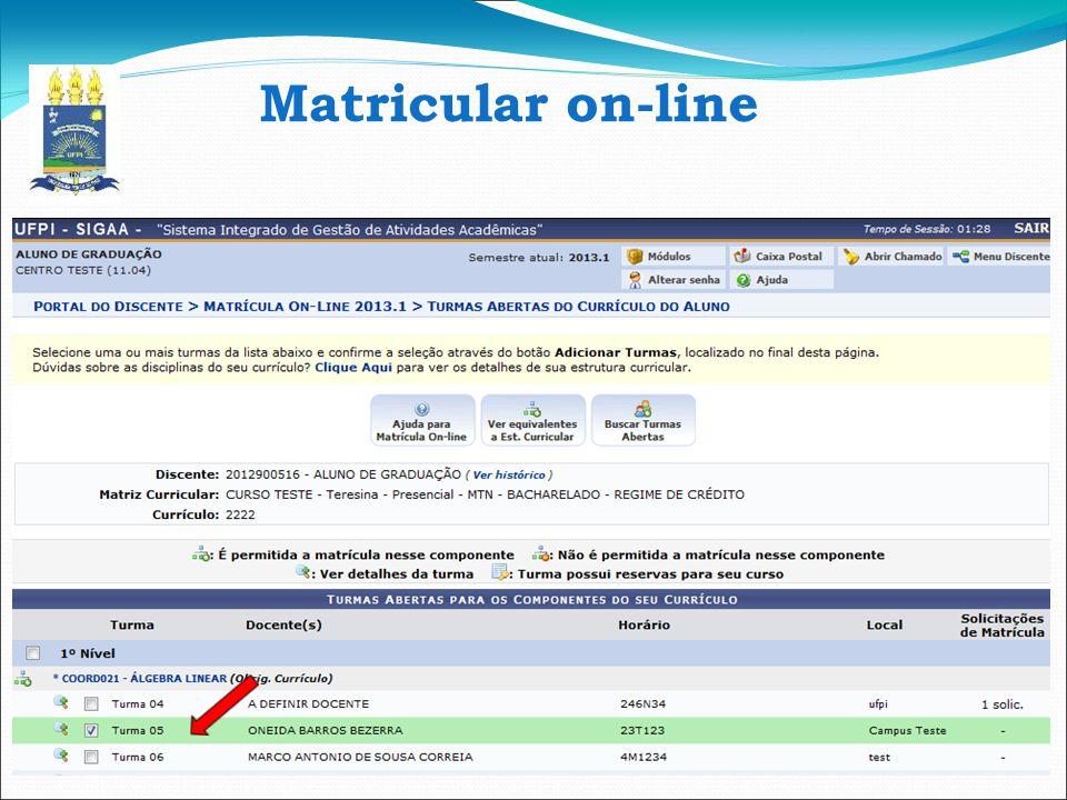 Matricular on-line 12