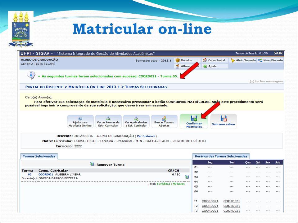 Matricular on-line 14